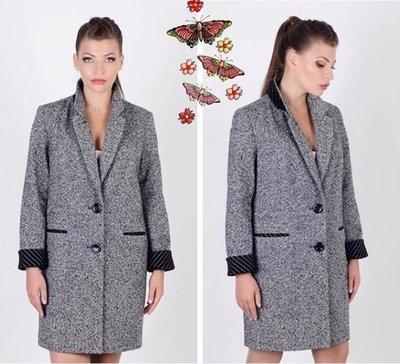 Стильное пальто-пиджак Бойфренд твид серое 48 50р  1600 грн ... c5a1ff7936df2