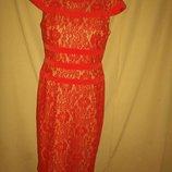Красивое кружевное платье Adrianna Papell р-р10,