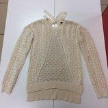 Вязанный кружевной свитер f&f 906