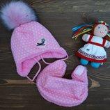 Зимний набор шапка и манишка