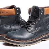 Кожаные зимние ботинки Clarks Originals Motor Trade M - 1805 Blue