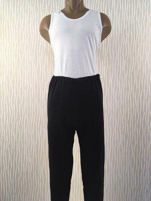Брюки штаны мужские черные трикотажные начес с манжетом размеры 44-58