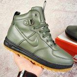 Зимние мужские ботинки NIKE Lunar Force 1 хаки 41-46р