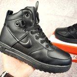 Зимние мужские ботинки NIKE Lunar Force 1 черные 41-46р