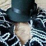 Шикарный комплект шляпка с шарфиком
