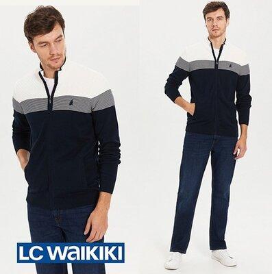 Мужская кофта LC Waikiki / Лс Вайкики с белым верхом, темно-синим низом