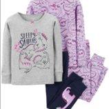 Трикотажная пижама для девочки 7,10,14Т Carters