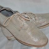 Туфли черевики броги кожа Trendenza размер 41 42, туфлі шкіра