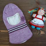 Зимняя шапка-шлем на флисе Эмми для девочки
