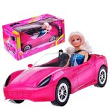 Машина для куклы типа барби Defa 8228 кабриолет для куклы
