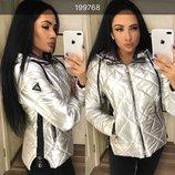 Демисезонная куртка серебро 44 Последний размер