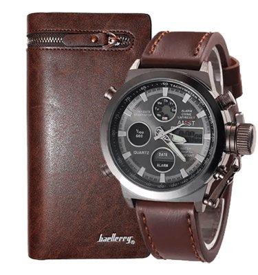 Комплект часы AMST и портмоне Baellerry Italia