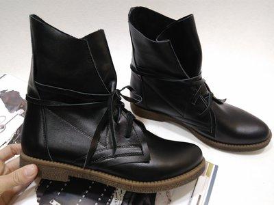 Распродажа Стильные кожаные черные ботинки 36-41р