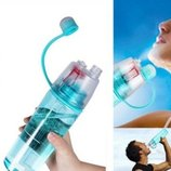 Спортивная бутылка с распылителем New B голубая