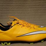 Классические бутсы Nike Mercurial Veloce II FG ярко желтого цвета. 43.