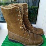 женские сапоги ботинки Timberland р. 37.5 , стелька 23.5 см состояние отличное