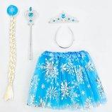 Карнавальный костюм Снегурочка фрозен frozen ледяное сердце юбка коса обруч палочка C31259