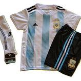 Футбольная форма детская Сборной Аргентины Месси Messi гетры