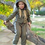 Теплые костюмы или комбинезоны Зайчишка для мамы и дочки Family Look