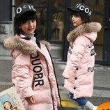 детская куртка теплая- Пуховик зимняя натуральный парка пальто термо комбинезон термо