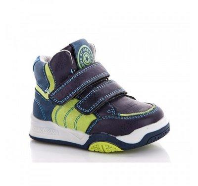 Ботинки для мальчика Солнце 21, 22, 23, 24, 25, 26 р Синий, салатовый PT85-1B Демисезонные ботинки