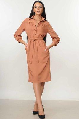 Платье рубашечного кроя с поясом