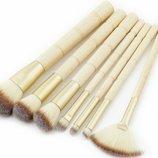 Кисти для макияжа Brushes for make-up bamboo 7 accessories