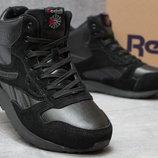 Ботинки мужские Reebok Classic, черные, р. 41 - 46