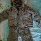Зимний костюм на мальчика р.86