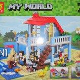 Конструктор My World домик 3 в 1, 470 детали