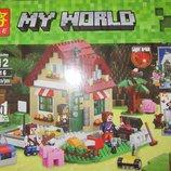 Конструктор My World светящийся домик 3 в 1, 569 детали
