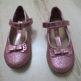 нарядные блестящие туфли F&F 10-ка. 28 размер