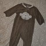 махровый слип пижама человечек Carter's 6 мес рост 68