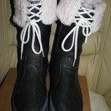 Чоботи брендові зимові теплі Adidas Оригінал р 4 стелька 23,5 см