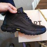 Зимние мужские кроссовки ботинки ECCO , натуральная кожа и шерсть . Очень круто сидят на ноге