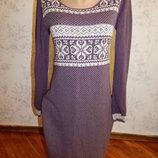 платье трикотажное с длинным рукавом стильное модное р12