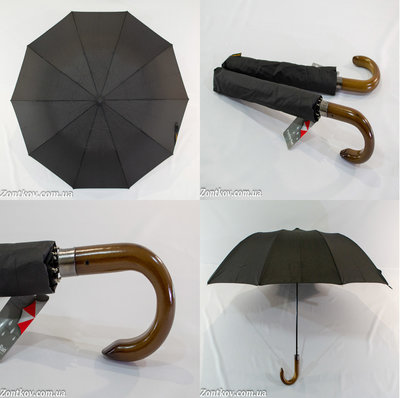 Мужской зонт полуавтомат в 2 сложения на 10 спиц от фирмы Feeling Rain