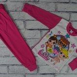 Пижама ЛОЛ интерлок,хлопок, от 2-х до 6-ти лет