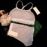 Комплект белья с топом и шортами то5 серый weiyesi рахмер s-xl