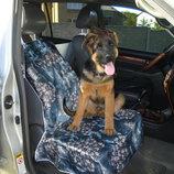 Авточехол чехол на переднее сиденье для перевозки собаки 4 расцветки подстилка покрывало накидка