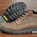 Зимние коричневые мужские ботинки Timberland . Все натуральное . Качество бомба.