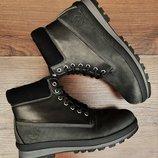 Черно серые мужские ботинки Timberland . Топ качество. Все натуральное . Доставка по Украине