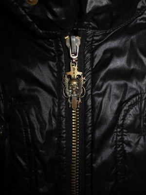 Мужская куртка черная на молнии D&A L M