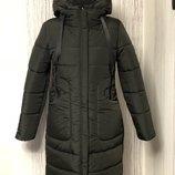 44-52рр цвета Шикарная куртка пуховик зимняя тёплая