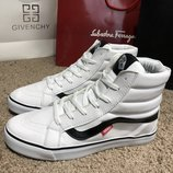 Ботинки Vans Sk8 Hi Chex Skate Shoes White