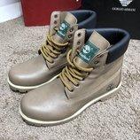 Ботинки зимние кожа Timberland Premium 6 Inch Boot Sandy