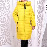Зимнее пальто куртка Ангел для девочек размер 122-152 см цвета