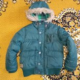 теплая куртка осень-зима Next 6 лет 116 см плечи 34 рукав 45-53 ширина в подмышках 42 ширина резинк