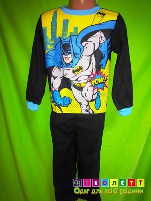 Пижама на мальчика микрофлис Бэтмен Disney р.5Т  220 грн - пижамы ... 5e5835557a547