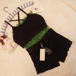 Комплект белья с топом и шортами то5 черный weiyesi рахмер s-xl